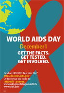 Get the Facts. Get Tested. Get Involved Poster