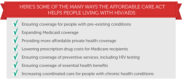 Here's some of the ways that The Affordable Care Act helps people living with HIV/AIDS.